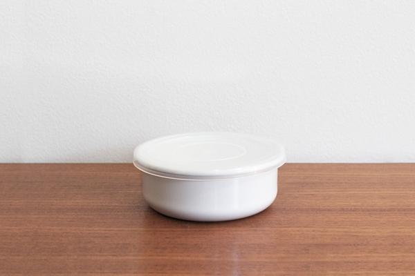 日本【野田琺瑯】圓型保存盒附透明蓋 12cm 0.54L J-01-NKH-025