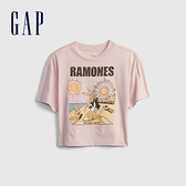 Gap女童 可愛印花純棉短袖T恤 688748-淡粉色
