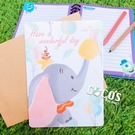正版授權 迪士尼卡片 小飛象 大卡片 生日卡片 萬用卡片 卡片 A款 COCOS DA030