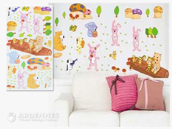 【ARDENNES】創意組合DIY壁貼/牆貼/兒童教室佈置 動物演唱會