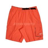 Nike 短褲 Volley Swim Shorts 橘 男款 海灘褲 九吋 可收納【ACS】 NESSB521-821