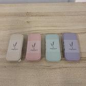 『顏色隨機』小麥秸稈餐具便攜式餐具學生餐具三件套勺叉筷子套裝(10*5/777-9492)