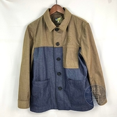 BRAND楓月 LOEWE 羅意威 墨綠牛仔布 工作服造型 外套 #M 牛仔外套 拚色