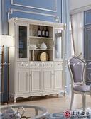 【新竹清祥傢俱】ELF-06LF13 小英式新古典珍珠白四門書櫃 四門展示櫃 收納櫃