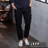 【JEEP】美式百搭抽繩束口工作褲 (黑)