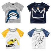 T恤-男童卡通短袖T恤夏裝新款韓版童裝 寶寶兒童打底衫印花上衣 依夏嚴選