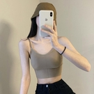 夏季2020新款韓版學生防走光抹胸裹胸帶棉墊打底內搭吊帶背心女潮