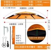 佳釣尼釣魚傘大釣傘雙層萬向防雨防曬防風垂釣加厚台釣魚遮太陽傘【1901雙層傘布伏魔傘2.0米】