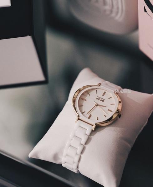 NATURALLY JOJO 玫瑰金氣質 陶瓷手錶 (JO96948-80R)/36mm