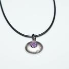 【喨喨飾品】紫水晶純銀墜飾 /皮繩  M353