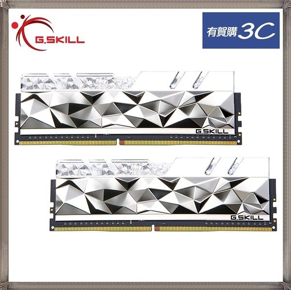 G.SKILL 芝奇 皇家戟-尊爵版 RGB DDR4-3600 8G*2 超頻記憶體(銀) F4-3600C16D-16GTESC