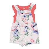 【北投之家】女寶寶吊帶褲套裝 吊帶短褲+短袖T恤 二件組 白花花 | Carter s卡特童裝 (嬰幼兒/兒童)