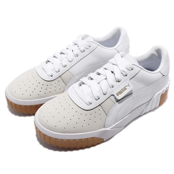 Puma 休閒鞋 Cali Exotic Wns 白 膠底 皮革 小白鞋 明星款 女鞋 【ACS】 36965301