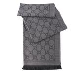 【GUCCI】大GG LOGO羊毛圍巾(灰色) 133483 3G200 1160