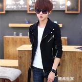 青年韓版短款風衣男士春秋季個性帥氣上衣服潮流褂子修身春裝外套『潮流世家』