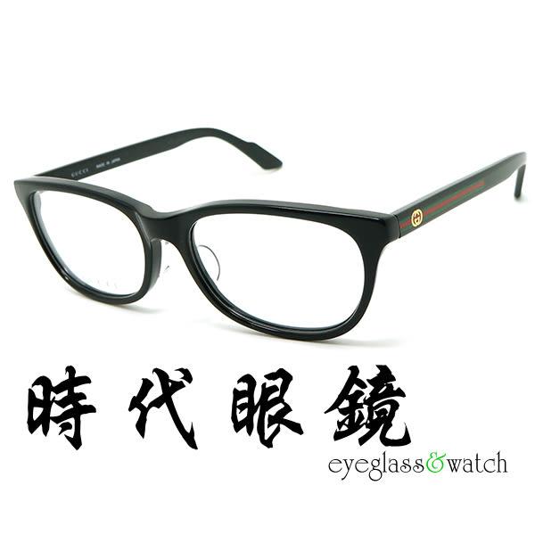 【台南 時代眼鏡 Gucci】光學眼鏡鏡框 GG9078NJ SOY 日版亞洲版 鋼琴黑 公司貨開發票