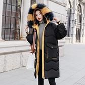 羽絨外套-白鴨絨-連帽撞色毛領繭型女夾克2色73zb42【時尚巴黎】