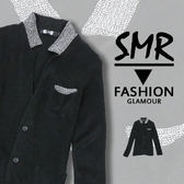 領撞色針織外套--獨家訂製質感舒適《9995BK126》黑色【現貨+預購】『SMR』