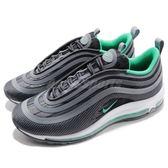 Nike 休閒慢跑鞋 Air Max 97 UL 17 黑 綠 白底 氣墊 反光 男鞋 復古外型【PUMP306】 918356-009