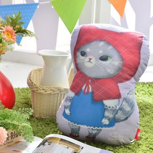 義大利Fancy Belle X DreamfulCat《MUMU小紅帽》數位造型抱枕 44*32CM