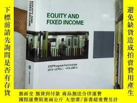 二手書博民逛書店EQUITY罕見AND FIXED INCOME 2015 LE