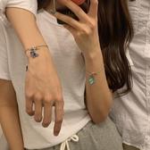 手鍊【蜜桃茶】 蝴蝶の情侶手鍊ins小眾設計女學生閨蜜信物姐妹男朋友 萊俐亞