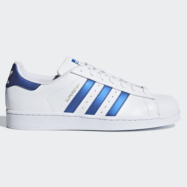 ★現貨在庫★ Adidas ORIGINALS SUPERSTAR 男鞋 女鞋 休閒 潮流 復古 白 藍 【運動世界】 D98000