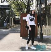 女裝韓版短袖T恤 哈倫褲兩件套
