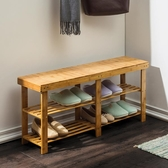 換鞋凳換鞋凳子可坐式家用床尾長條鞋櫃實木北歐進門口穿鞋架收納【雙十二快速出貨八折】
