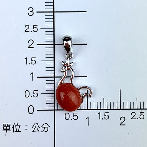 【大東山樑御】十二生肖雞年天然紅珊瑚吊飾墜子S925純銀鍍白K