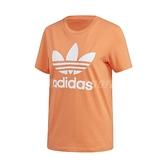 adidas 短袖T恤 Trefoil Tee 橘 白 女款 基本款 運動休閒 【ACS】 FM3295