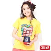 CHUMS 日本 女 Cube 魔術方塊 輕柔綿短袖T恤 含羞草黃 CH111039Y009