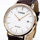 [萬年鐘錶] CITIZEN  Eco Drive GENT'S 光動能時尚 男錶 小牛皮 藍寶石玻璃 白錶面 日期 38mm AU1083-13A