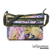 LeSportsac - Standard橫式三層拉鍊斜背包(棕櫚海灘) 3352P F186
