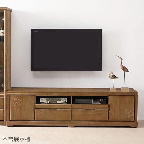 【森可家居】太陽花半實木6尺電視櫃 7JX192-2 長櫃 木紋質感 日系無印風