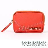 聖大保羅SANTA BARBARA POLO南十字星零錢包/珊瑚紅