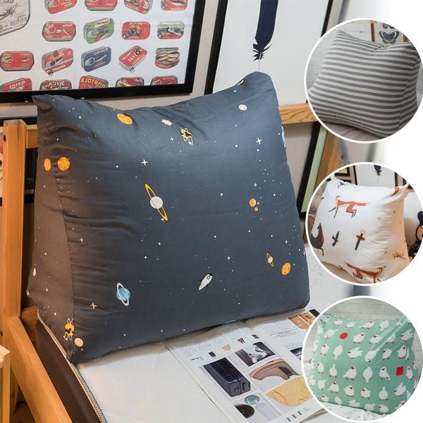 三角抬腿枕 多款可選 人體工學設計 純棉 聚酯纖維棉 台灣製 復古 碎花