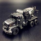 南源魔圖3D金屬拼圖工程車推土機挖掘機攪拌車自卸卡車壓路機模型【快速出貨八折優惠】
