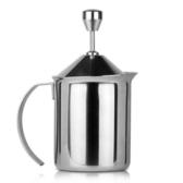 奶泡器 手動 咖啡打奶器雙層打奶泡杯304不銹鋼拉花壺打奶 奶泡機   WD 時尚潮流