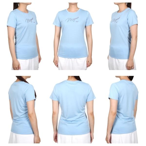MIZUNO 女短袖T恤(免運 台灣製 上衣 吸濕排汗 抗UV 咖啡紗 美津濃≡體院≡ 32TA170121
