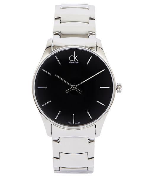 CK Calvin Klein Classic 極簡古典美學手錶(K4D21141)-黑面X銀色/38mm
