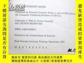 二手書博民逛書店【英文原版】The罕見Counterfeit Bride by