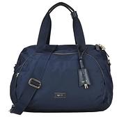 【南紡購物中心】agnes b. 金屬框邊雙層旅行袋-大/深藍