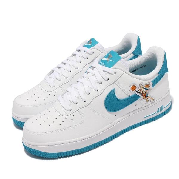 Nike 休閒鞋 Air Force 1 07 白 藍 Hare 兔寶寶 怪物奇兵 男鞋 休閒鞋【ACS】 DJ7998-100