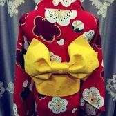 日式和服腰封改良蝴蝶結浴衣腰帶cos【步行者戶外生活館】