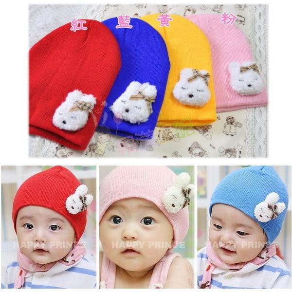 果漾妮妮 韓單 包頭帽/兒童帽子/造型帽子/棉帽/套頭帽/保暖帽-毛絨兔子款