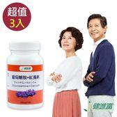 【健唯富】葡萄糖胺+紅藻鈣(30粒X3罐)