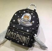 ■現貨在台■專櫃53折■全新真品Moschino 星球泰迪圖騰後背包