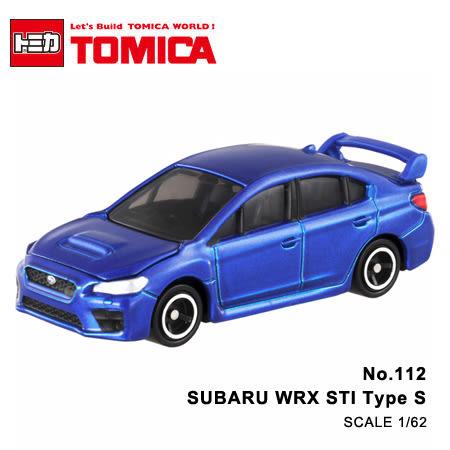 日貨 TOMICA No.112 SUBARU WRX STI Type S 速霸陸 真車系列 汽車模型 多美小汽車