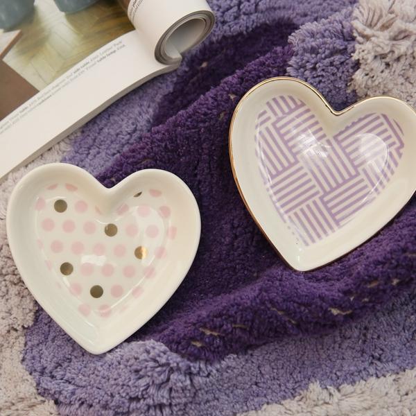 Heart粉點燙金擺飾盤-生活工場
